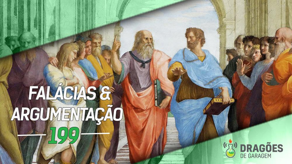Enquadramento do centro da pintura A Escola de Atenas de Rafael, onde vários filósofos debatem enquanto pessoas observam em volta